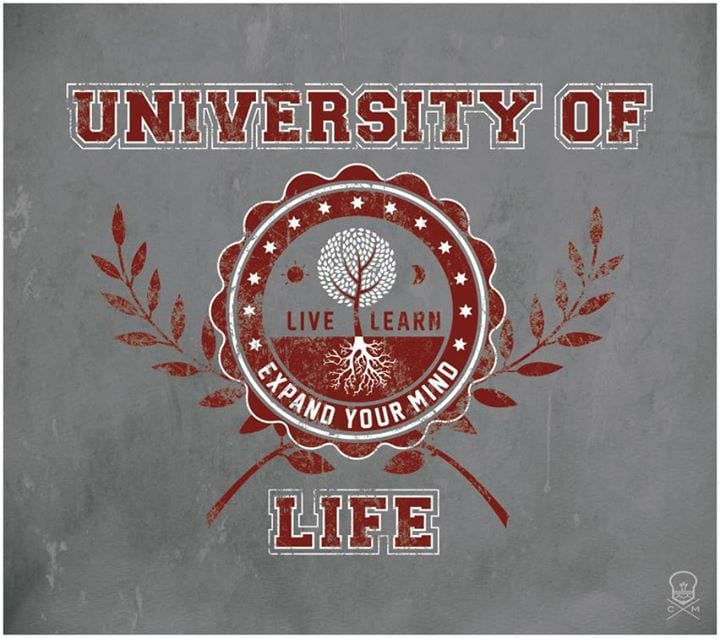 Post 5 You missed? Hope not too much of today's chapter is called University of Life ...