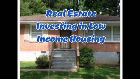 Immobilier avancé - à faible revenu