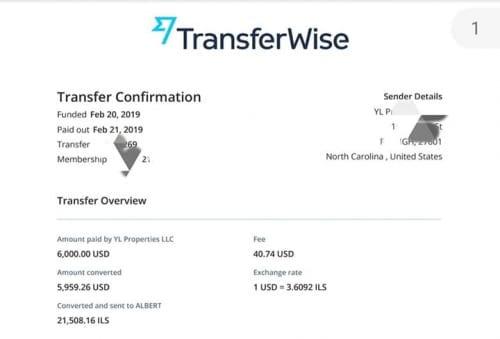 También experimenté una transferencia TransferWise. Parece que cobran como una comisión de una sola vez ...