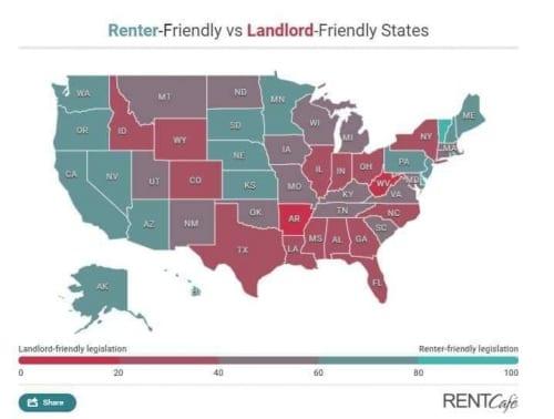 Ci-dessous une photo des pays et le diagnostic de ceux qui préfèrent le locataire et ceux du propriétaire.