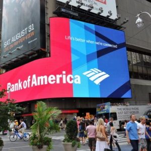 Bank of America, die 1 errichtet