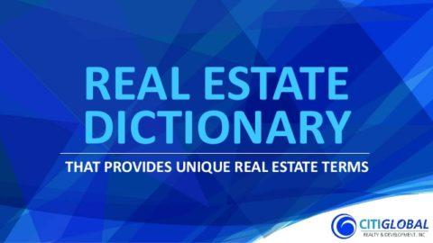 """מילון מושגי נדל""""ן וקיצורי נדל""""ן באנגלית"""