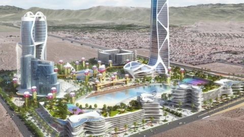 Innovative or unrealistic? A real estate developer is promoting an ambitious project in Las Vegas.