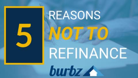 Cinco razones por las que no debes refinanciar tu casa