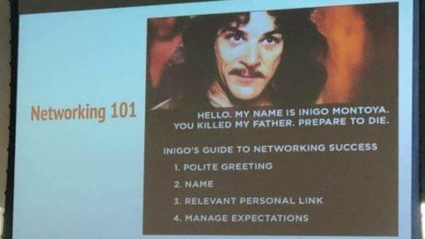 """روش """"اینیگو مونتویا"""" برای شبکه سازی 1. تبریک مودبانه 2. ارائه خود 3. نام ..."""